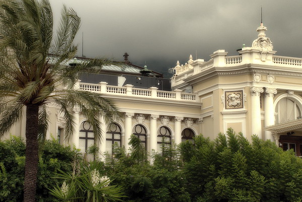 Foggy weather in Monaco