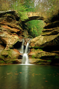 The Upper Falls is located in Hocking Hills, Ohio near Old Mans Cave.