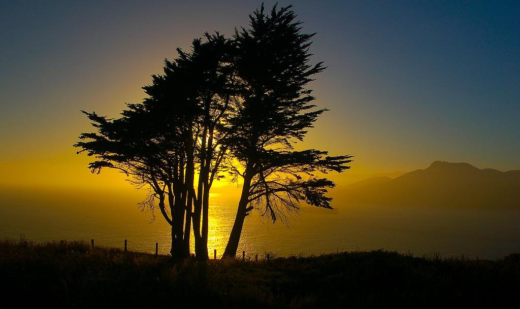 Sunset near Golden Gate Bridge
