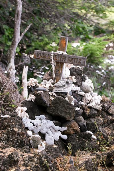 Memorial to a Fallen Surfer, Ahihi-Kinau Natural Area Reserve, Maui, Hawaii,