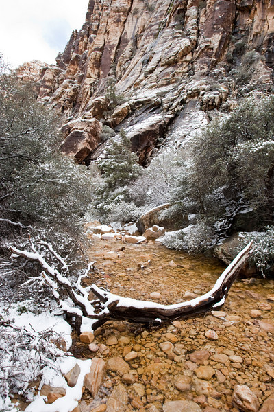 Ice Box Canyon, Red Rock Canyon National Conservation Area in Winter, Las Vegas, Nevada