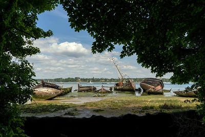Wrecks at Pin Mill, Suffolk