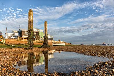 Felixstowe Ferry at low tide