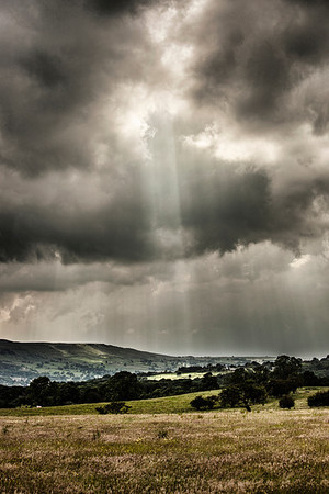 A storm brewing. Taken from Smithy Lane near Denton, West Yorkshire.
