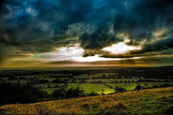 From Beacon Fell, Lancashire, looking across to the West coast.
