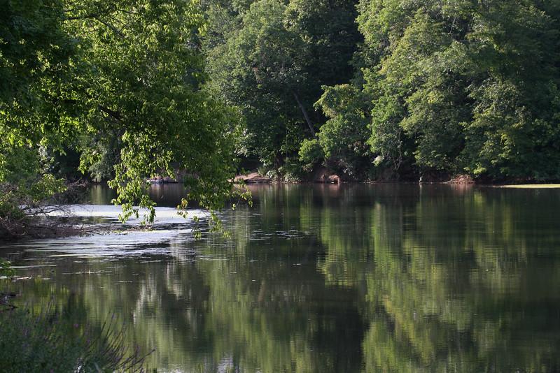 Perikiomen Creek near Oaks, Pennsylvania.