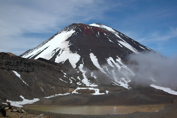 Reaching the upper portion of Tongariro during a 5 day circuit trek.