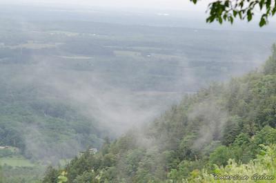 Fog rolls over Voorheesville