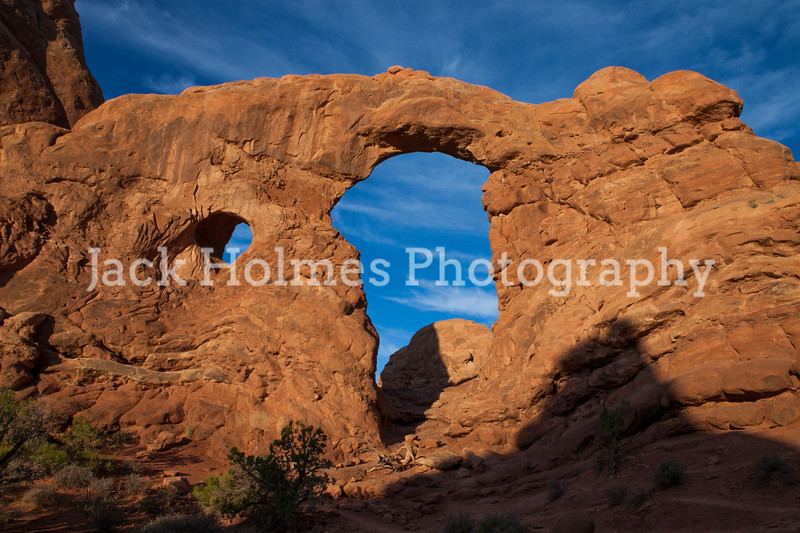 Turret Arch at sunrise.