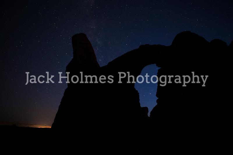Turret Arch star lit.