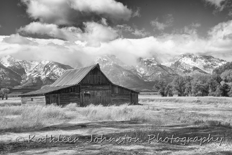 Old Barn on Mormon Road in the Grand Tetons, Wyoming