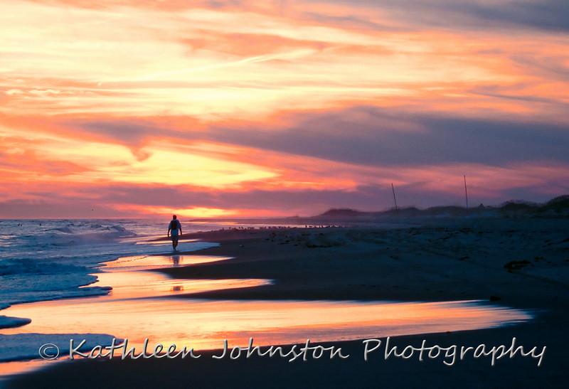 Emerald Isle, NC beach, sunset