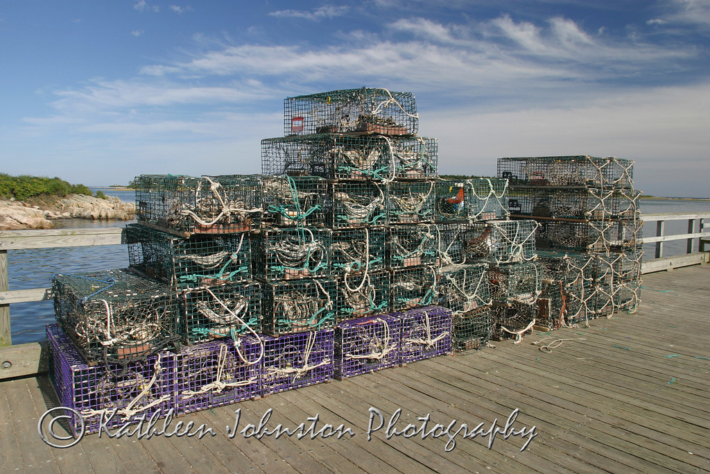 Lobster pots, Maine