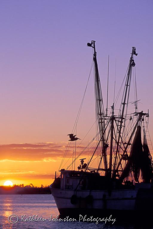 Shrimpboat at Sunset, Swansboro, NC