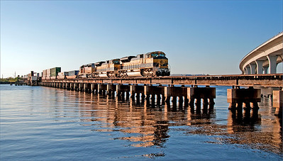 Freight train over the water