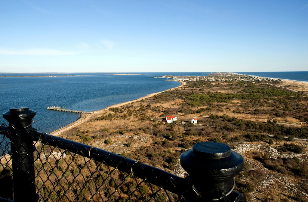 Fire Island Lighthouse, Long Island, NY<br /> Looking east.