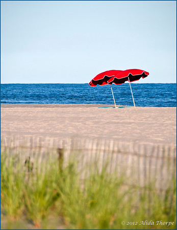 Red Umbrellas on the beach