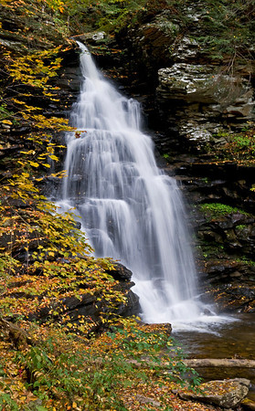 Just one of many falls at Ricketts Glenn, Pennsylvania