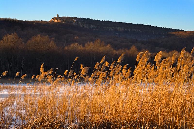 The Shawangunk Ridge and Sky Top in late winter