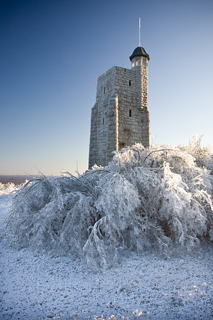 Sky Top at the Mohonk Mountain House after an ice storm