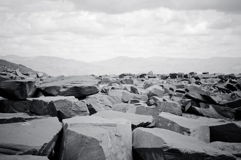 Slate quarry on the Old Man of Coniston