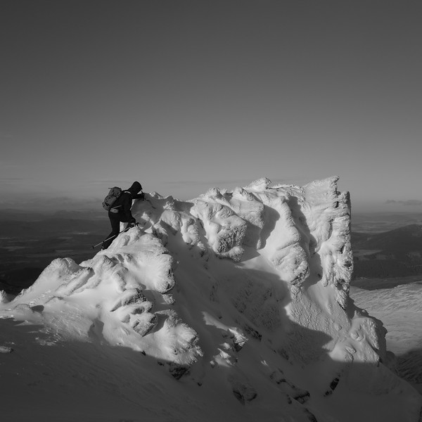 Winter Climbing, Cairngorms, Scotland