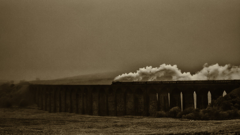 """The Fellsman"", Ribblehead Viaduct, North Yorkshire ,UK"
