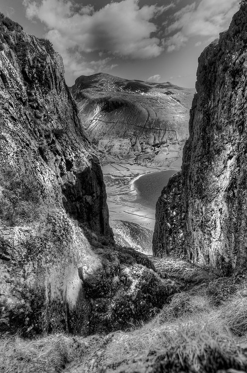 Great Door on Yewbarrow overlooking Wast Water and The Scafells.