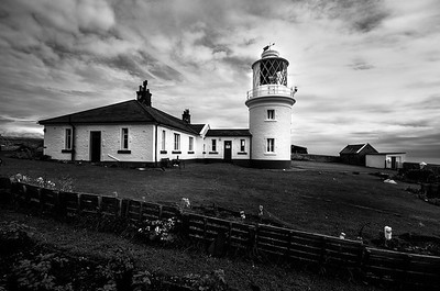 St. Bees Lighthouse, St. Bees Head, Cumbria, UK