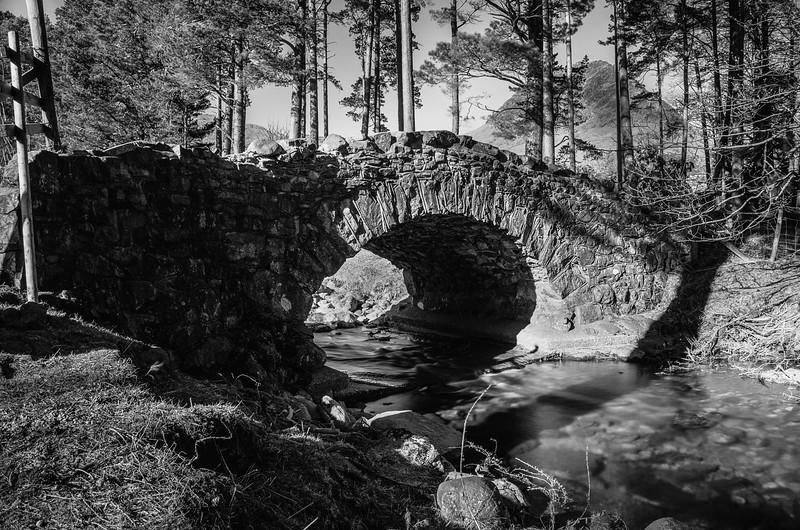 Bridge with Yewbarrow in the background, Wast Water, Cumbria, UK