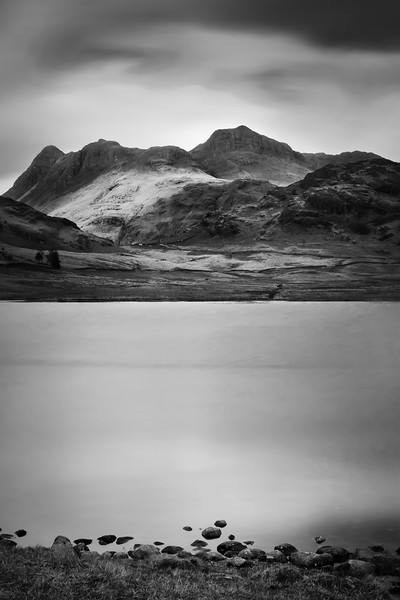 Langdale Pikes from Blea Tarn, Cumbria, UK