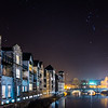 Kentgate Apartments and Riverside Hotel from Victoria Bridge, Kendal, Cumbria, UK