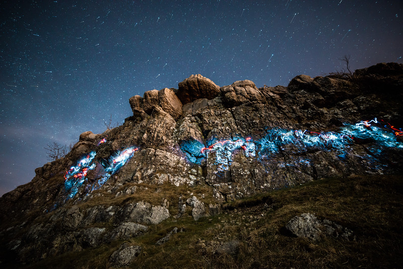 Night Climbing at Farleton Knott, Lancashire, UK