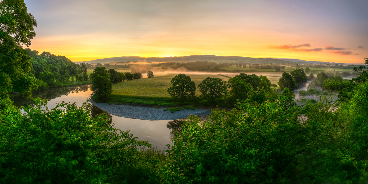 Ruskin's View, Kirkby Lonsdale, Cumbria, UK<br /> <br /> This view was described by John Ruskin in 1875 as 'One of the loveliest in England, therefore in the World'