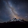 The Milky Way over the Matterhorn, showing the Zmutt Ridge, Switzerland