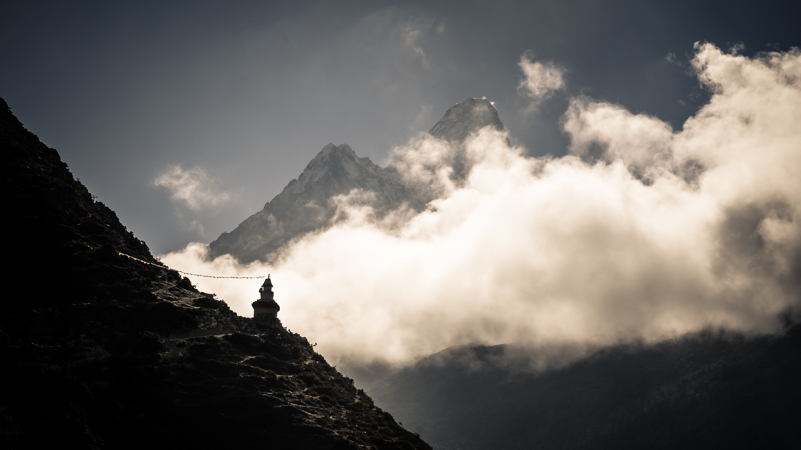 On the trail above Namche Bazaar