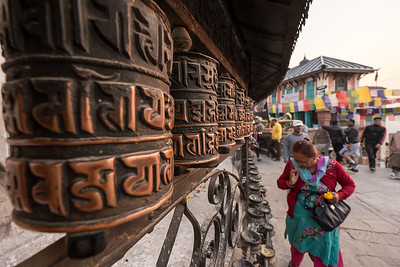 Prayer Wheels, Swyambunath, Nepal