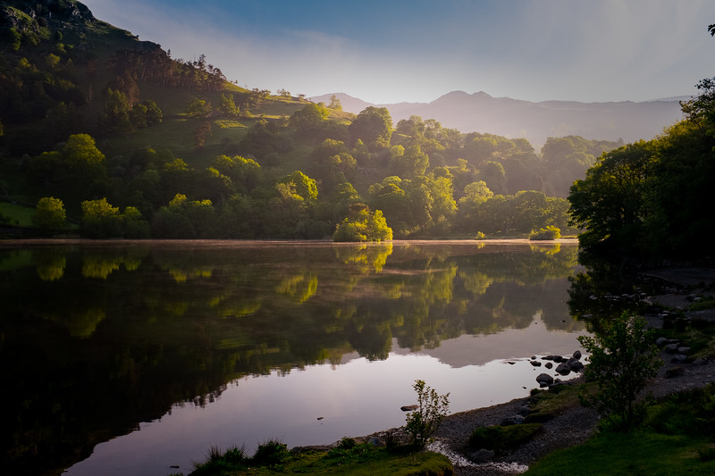 First Light on Rydal Water, Cumbria, UK