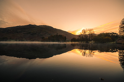 Ullswater Mirror Reflection, Cumbria, UK