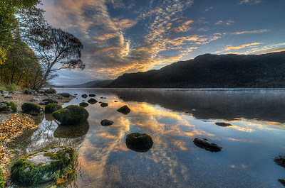 Dawn on Ullswater, Cumbria, UK