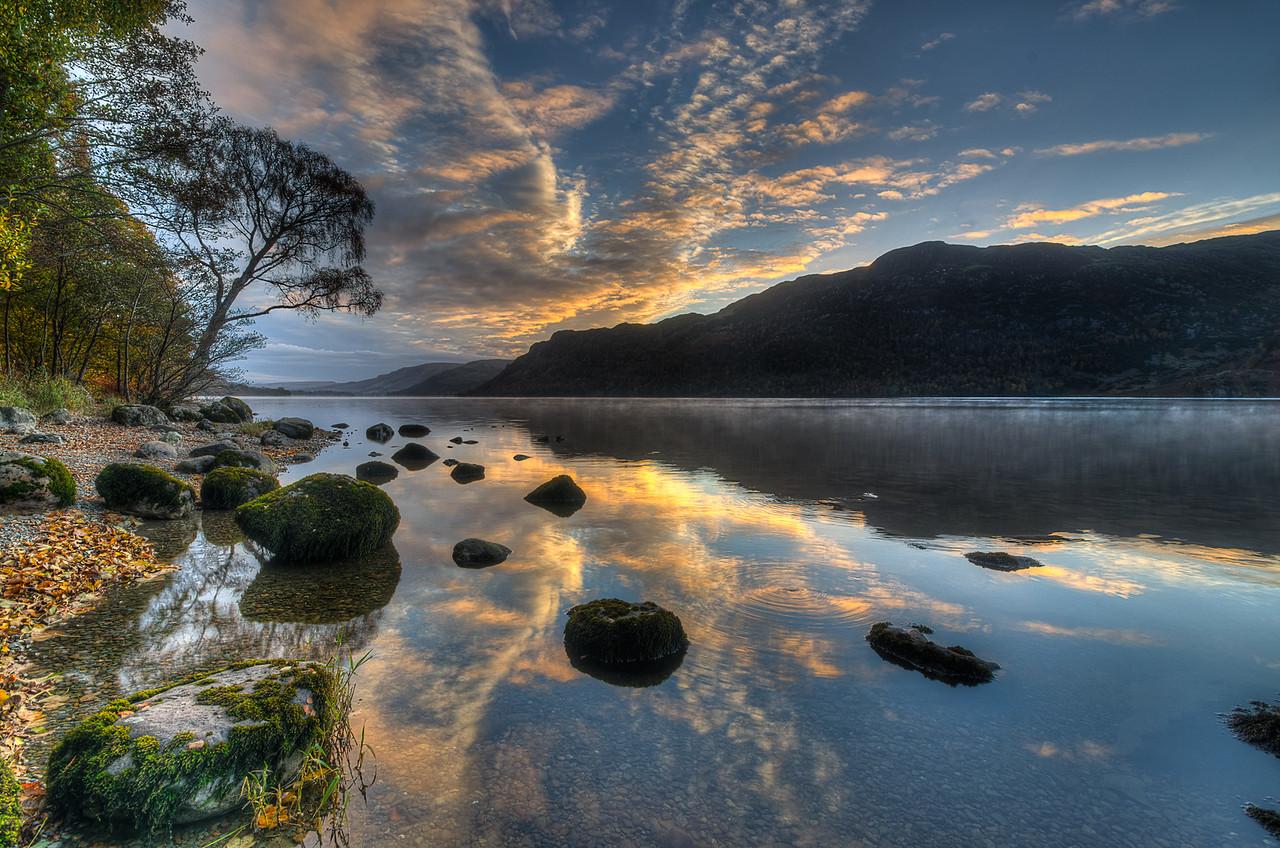 Dawn on Ullswater, Cumbria, UK