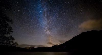 The Milky Way over Loughrigg Tarn, Cumbria, UK