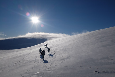 """In Search of Snow Holes"", The Cairngorms, Scotland, UK"