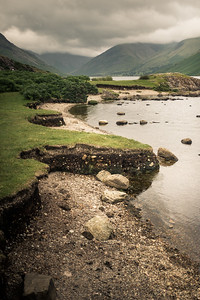 Wastwater looking to Great Gable in Cloud