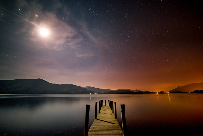 Moonlit Jetty, Derwent Water, Keswick, Cumbria, UK