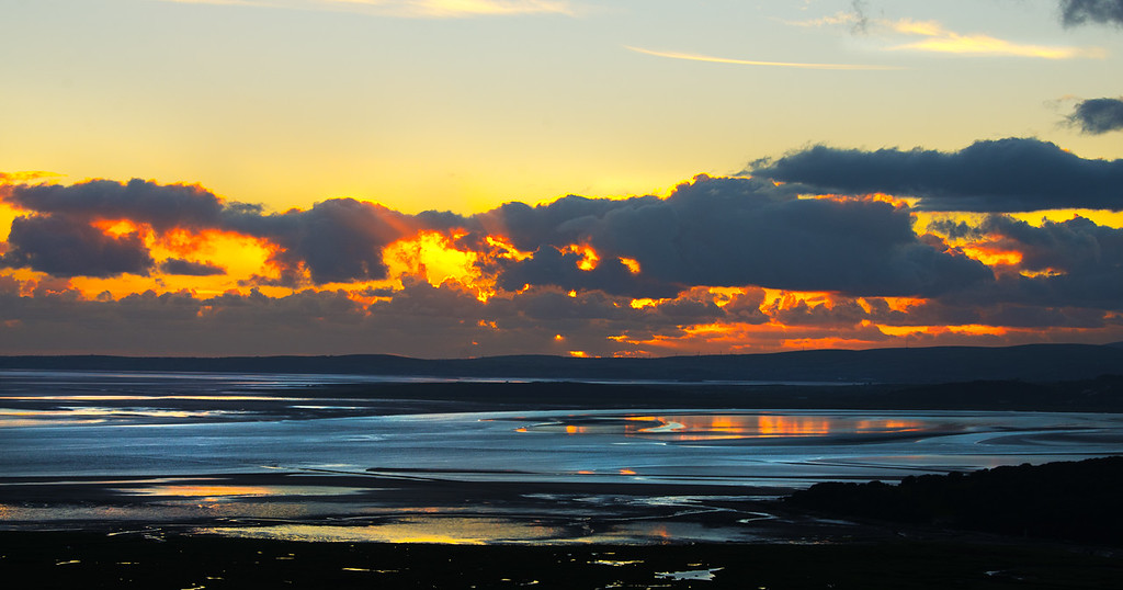 Morecambe Bay from Warton Crag, Lancashire, UK