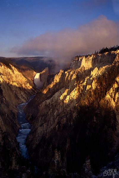 Yellowstone Falls sunrise