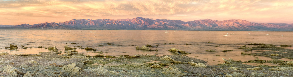 Sunrise in its full glory--the mountains, the clouds and the lake. And to think this happens every morning.