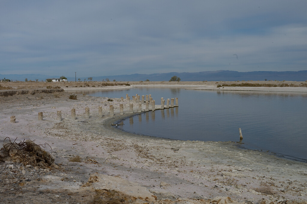 Here is the pier of the Yacht Club. If you zoom in, look at the salt encrusted posts.