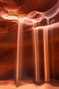Sand Waterfall and Tumbleweed